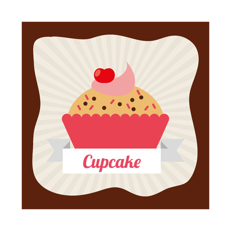 cupcake illustration: cupcake card design, vector illustration eps10 graphic