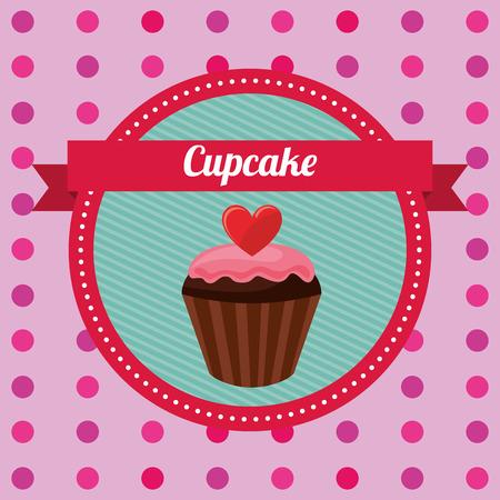 cupcake illustration: cupcake card design, vector illustration eps10 graphic