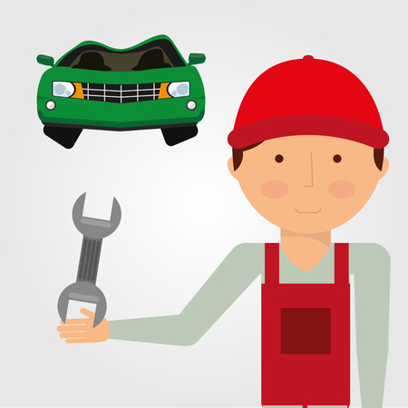 impact wrench: car accident design, vector illustration eps10 graphic
