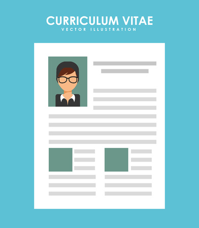 vitae: curriculum vitae design, vector illustration eps10 graphic