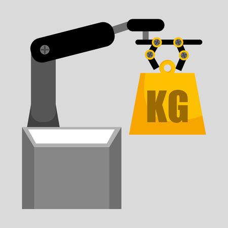 hydraulic platform: lifting machine design, vector illustration eps10 graphic