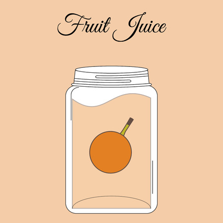 juice bottle: fruit juice bottle design, vector illustration eps10 graphic