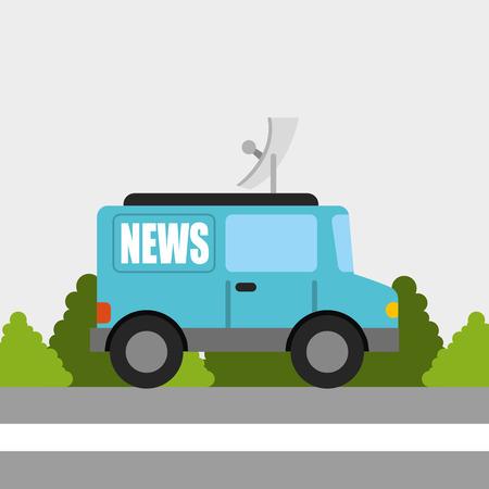 news van: breaking news design, vector illustration eps10 graphic