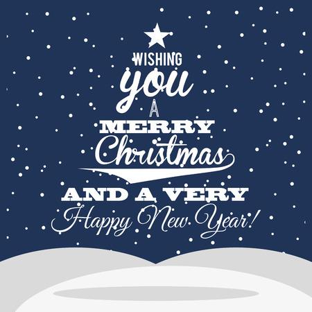 christmas night: happy merry christmas design, vector illustration eps10 graphic
