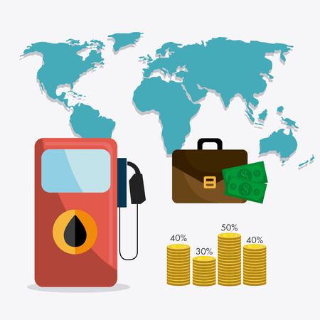 oil industry: Petroleum and oil industry infographic design, vector illustration Illustration