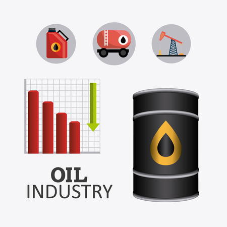 price development: Petroleum and oil industry infographic design, vector illustration Illustration