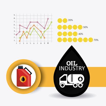 statics: Petroleum and oil industry infographic design, vector illustration Illustration