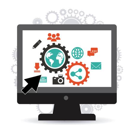 global settings: social media design, vector illustration eps10 graphic