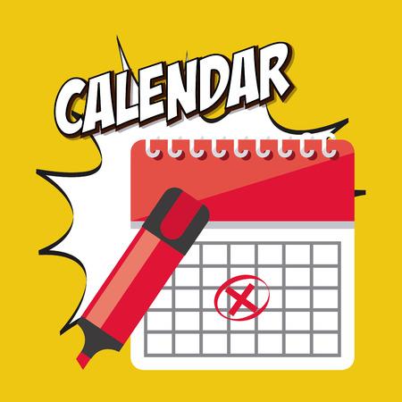 isolated illustartion: calendar icon app design, vector illustration eps10 graphic