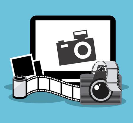 reflex camera: retro photo design, vector illustration eps10 graphic