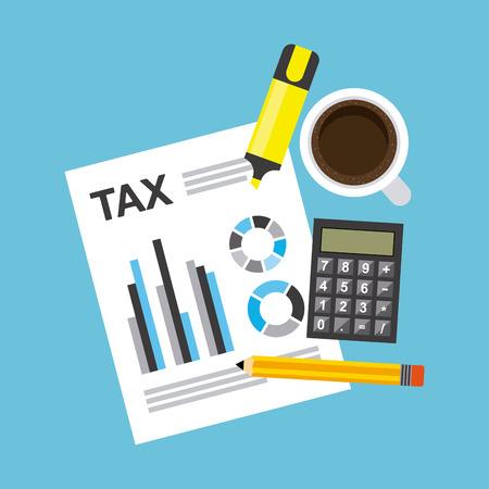 belastingbetaling ontwerp, vector illustratie eps10 grafische