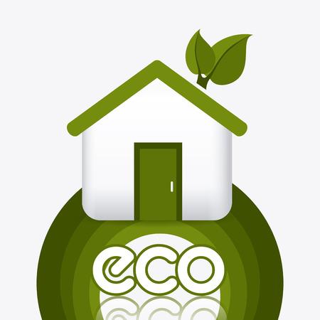 environmental contamination: Green energy and ecology theme design, vector illustration.