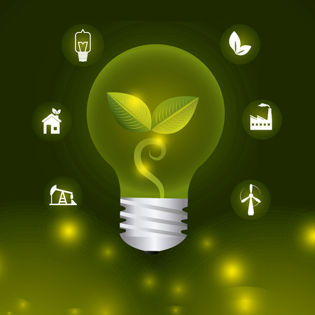 energy icon: Green energy and ecology theme design, vector illustration.