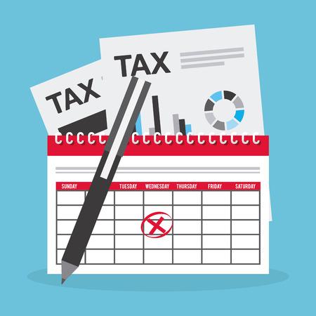 tax returns: tax payment design, vector illustration eps10 graphic Illustration