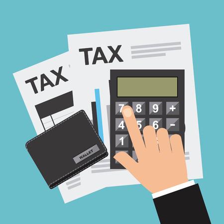 tax return: tax payment design, vector illustration eps10 graphic Illustration
