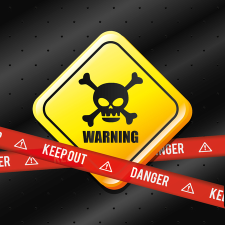 danger and caution design, Advertising sign, vector illustration