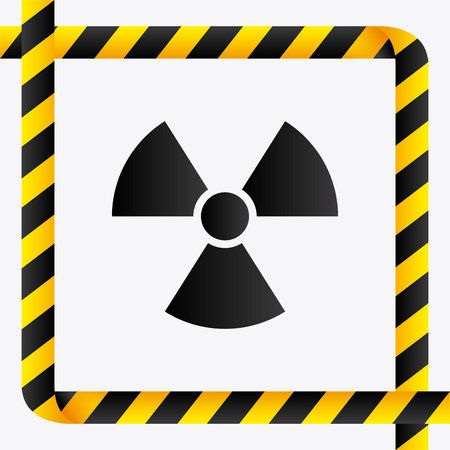 hazard tape: danger and caution design, Advertising sign, vector illustration