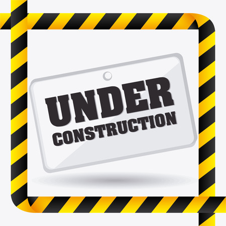 under construction icon: danger and caution design, Advertising sign, vector illustration
