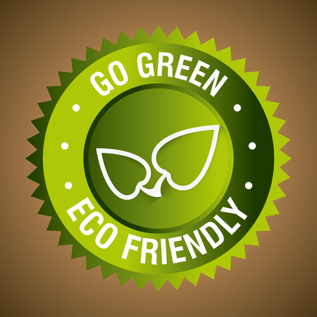 indicate: Go green ecology trendy design, vector illustration eps 10. Illustration