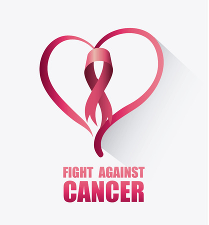 cancer ribbon: Fight against breast cancer campaign design, vector illustration eps10 Illustration