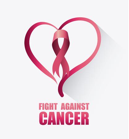 rak: Walka z rakiem piersi kampanii projektowania, ilustracji wektorowych eps10