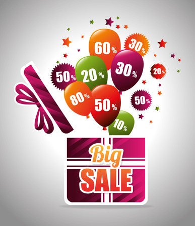 shopping sale: Big sale discounts and offers shopping design, vector illustration. Illustration