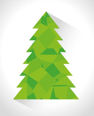 stuffs: Merry christmas decorative stuffs and pine tree design, vector illustration eps 10. Illustration