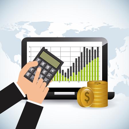 finance concept: stock exchange design, vector illustration eps10 graphic Illustration