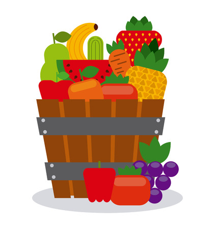 Organic farm products design, vector illustration eps10 graphic Vector Illustration