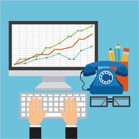 calculations: statistical calculations design, vector illustration eps10 graphic Illustration