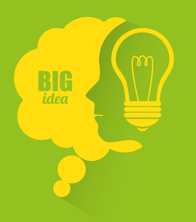 Big idea, creative and intelligence theme design, vector illustration