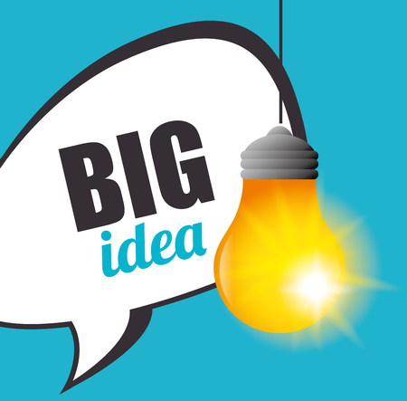 brilliant: Big idea, creative and intelligence theme design, vector illustration