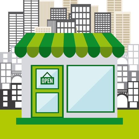 market place: commercial store design, vector illustration eps10 graphic