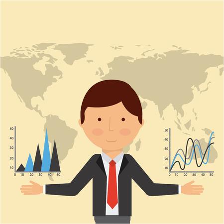 global economy design, vector illustration eps10 graphic  イラスト・ベクター素材