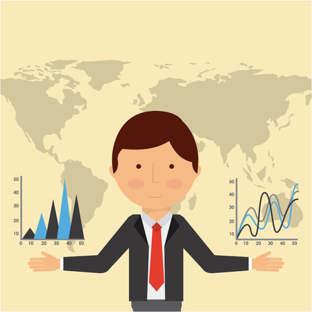 global economy design, vector illustration eps10 graphic Imagens - 45383097