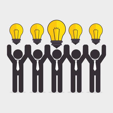 practical: Big idea, creative and intelligence theme design, vector illustration