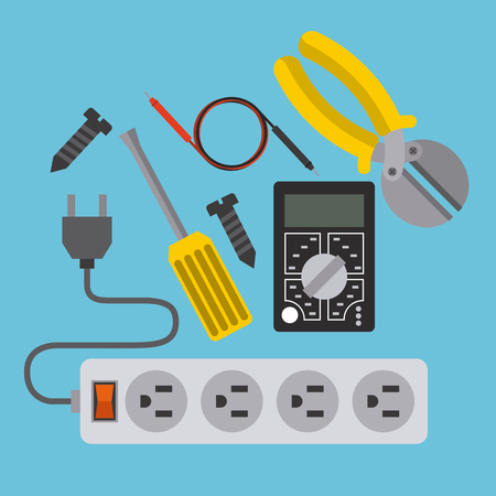 electrician: electricity service design, vector illustration eps10 graphic