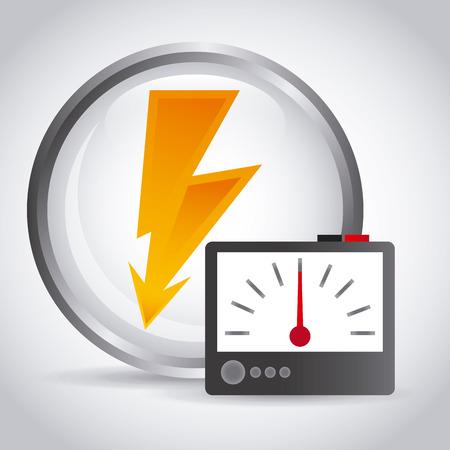 tester: electricity service design, vector illustration eps10 graphic