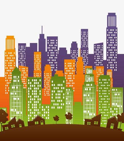 urban environments: Urban city and real state design, vector illustration eps 10.