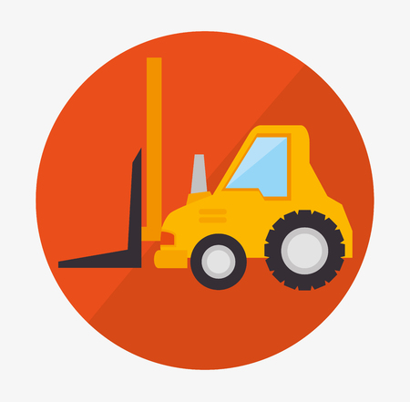 engins de chantier: Under construction machinery and equipment design, vector illustration.