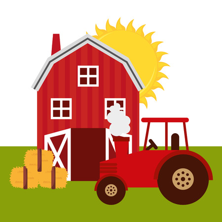 old farm: fresh farm products design, vector illustration eps10 graphic