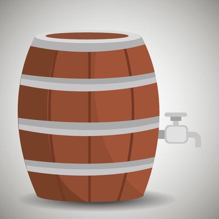 european culture: Beer design over white background, vector illustration