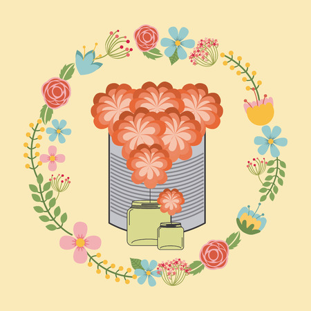 decoration design: floral decoration design, vector illustration eps10 graphic