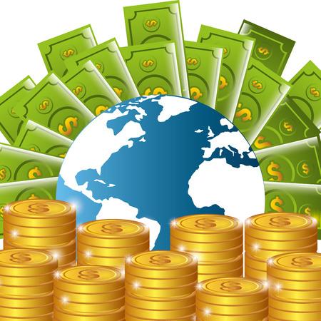 abundance: Money and business graphic design, vector illustration eps 10.