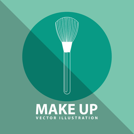 beauty make up: makeup product design, vector illustration eps10 graphic Illustration