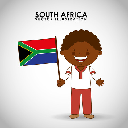 south african: south african kid design, vector illustration eps10 graphic