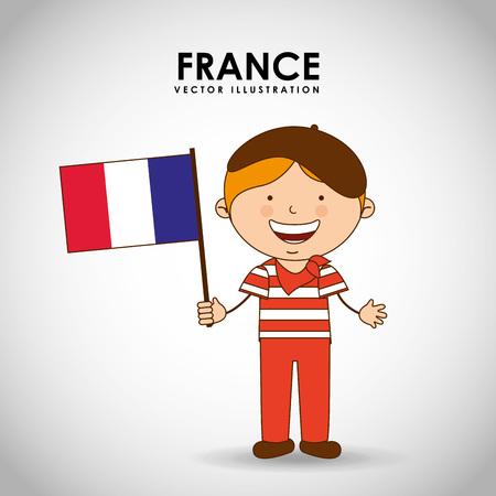 world flag: france kid design, vector illustration eps10 graphic