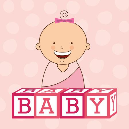 congratulations: baby shower design, vector illustration eps10 graphic Vectores