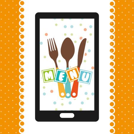 baby cutlery: kids menu design, vector illustration eps10 graphic Illustration