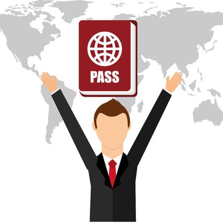 emigration and immigration: passport identification design, vector illustration eps10 graphic
